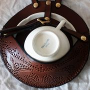 Leather Tea Cup Holster